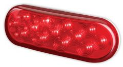 "6"" OVAL RED 14 LED"