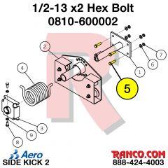 """AERO - 1/2""""-13 X 2"""" HEX BOLT"""