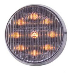 """2"""" ROUND CLEARANCE CLEAR LENS, AMBER - 9 LED"""