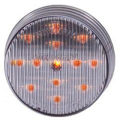 "2-1/2"" RND CLEARANCE CLEAR LENS, AMBER - 13 LED"