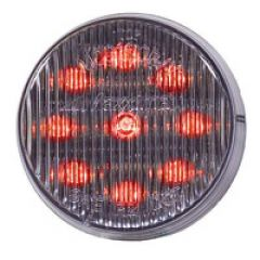 "2"" ROUND CLEARANCE CLEAR LENS, RED - 9 LED"