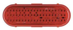 "LED - 6"" OVAL RED STT"