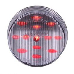 """2-1/2"""" RND CLEARANCE, CLEAR LENS, RED - 13 LED"""