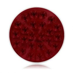 "STROBE - 24 LED 4"" ROUND STROBE LIGHT - RED"