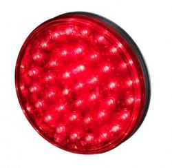 "4"" ROUND 40 LED RED STOP/TURN"