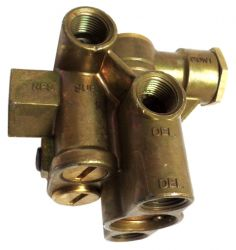 SPRING BRAKE VALVE  - THIS VALVE RELEASES THE BRAKES AFTER THE TANK IS FILLED.